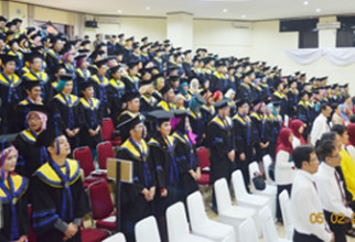 Pengukuhan dan Syukuran Wisudawan/Wisudawati FMIPA UI Semester PTA 2014/2015