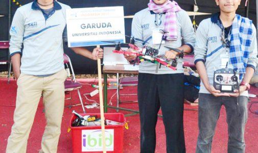Tim UI Juara 1 Kontes Robot Terbang Indonesia