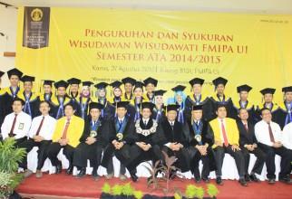Pengukuhan dan Syukuran Wisudawan Wisudawati FMIPA UI Semester ATA 2014/2015