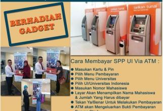 Bayar SPP UI via ATM BNI Berhadiah Gadget