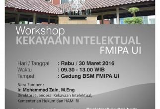 Workshop Hak Kekayaan Intelektual FMIPA UI