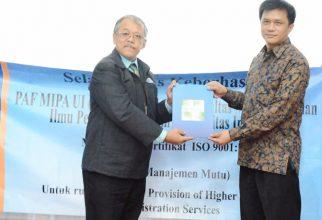 FMIPA UI Meraih Sertifikasi ISO 9001:2015
