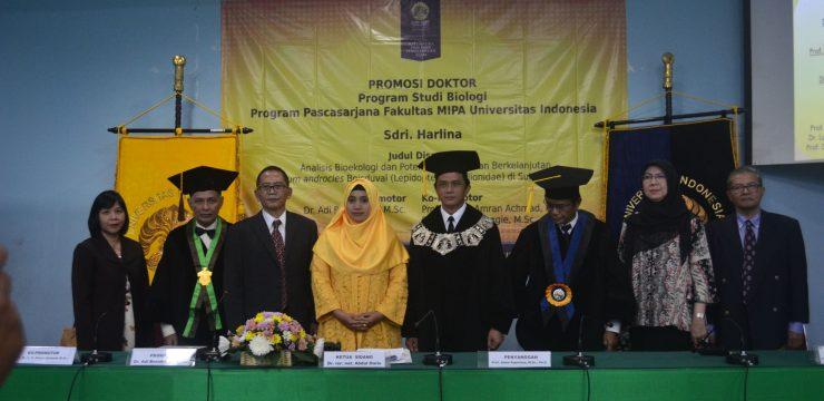 Promosi Doktor Harlina Biologi