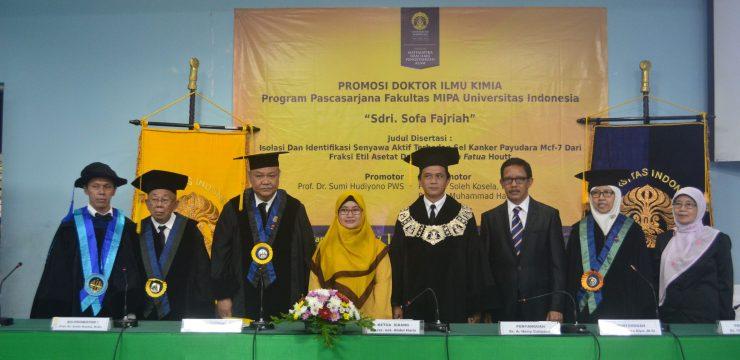 Promosi Doktor Sofa Fajriah