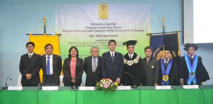 Promosi Doktor Hedi Surahman