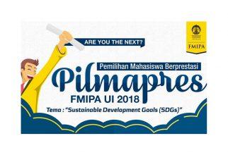 PILMAPRES FMIPA UI 2018 Akan Digelar Minggu Depan, Ini Dia Nama-Nama Pesertanya