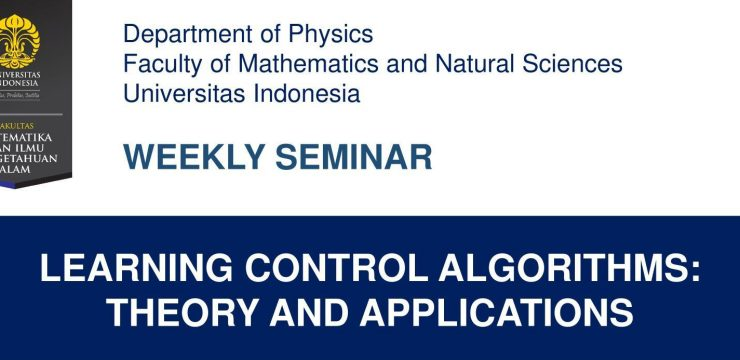 Weekly Seminar: Learning Control Algorithms: Theory And Applications