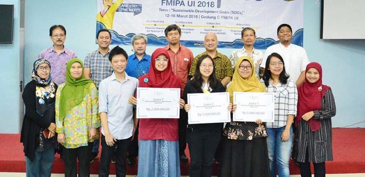 Dhita Mutiara Nabella Elected as the Winner of Student Achievement of Faculty of Mathematics and Natural Sciences UI 2018