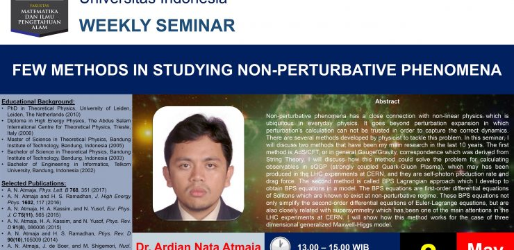 Weekly Seminar: Few Methods in Studying non-Perturbative Phenomena