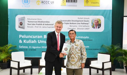 Launch the Book About Conservation, Professor of FMIPA UI Presents Erik Solheim