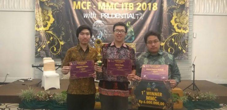 Tim Matematika FMIPA UI Juara I Mathematical Modeling Competitions 2018