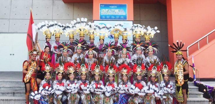 Komunitas Seni Tari FMIPA UI Kenalkan Tari Suku Dayak Di Korea Selatan
