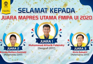 FMIPA UI Announces 2020 MAPRES champions