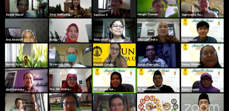FMIPA UI Gelar Halalbihalal Virtual
