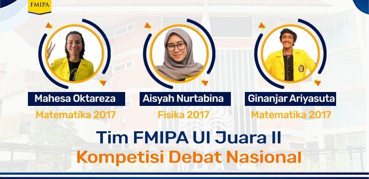FMIPA UI Juara II Kompetisi Debat Nasional