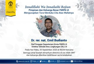 Dr. Emil Budianto Ahli Kimia Organik dan Polimer FMIPA UI Tutup Usia