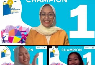 Kontingen FMIPA UI Juara 1 TASPEN Breakthrough Innovation Competition 2020