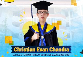 Christian Evan Chandra, Lulusan Prodi Sarjana Ilmu Aktuaria Menjadi Peraih IPK Tertinggi se-UI