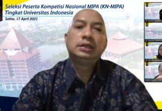 FMIPA UI Gelar Pembukaan Seleksi KN-MIPA 2021 Tingkat UI Secara Daring